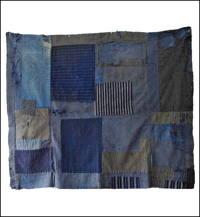 Early Boro Indigo Cotton Futon Cover Large Fragment