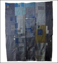 Early Large Boro Indigo Thin Stripe Cotton Futon Cover