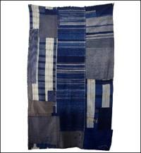 Early Indigo Cotton Boro Futon Cover Zanshi Textiles