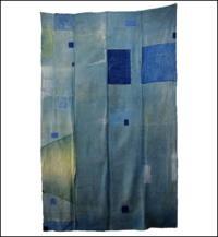 Early Indigo Cotton Boro Futon Cover