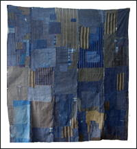 Early Boro Indigo Cotton Futon Cover Outstanding