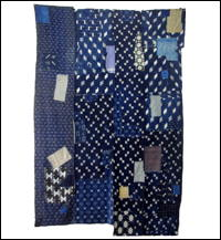 Early Boro Kasuri Indigo Cotton Futon Cover