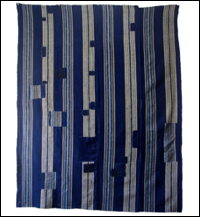 Indigo Stripe Cotton Boro Futon Cover