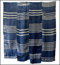 Early Indigo Hemp Boro Textile Extra Nice
