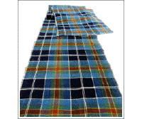Long Check Cotton Indigos  Reds Textile