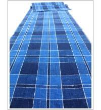 Check Cotton Indigo Textile