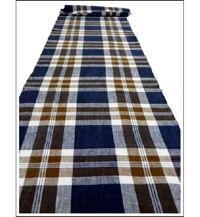 Check Cotton Indigo  Chocolate Textile