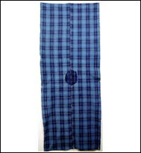 Check Cotton Indigo Textile