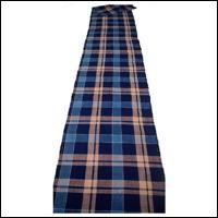 Old Check Indigo Cotton Textile