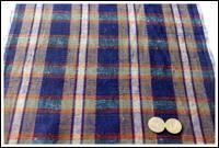 Premium Old Check Indigo Tsumugi Cotton Textile