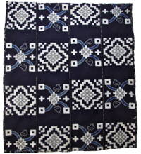 Early Indigo Picture Kasuri Cotton Futon Cover