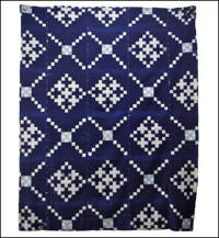 Early Boro Indigo Picture Kasuri Cotton Futon Cover