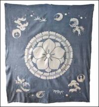 Early Indigo Tsutsugaki Cotton Wedding Futon Cover