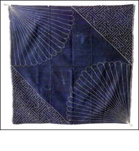 Early Boro Indigo Sashiko Furoshiki Cover