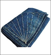 Early Cotton Indigo With Sashiko Furoshiki Cover