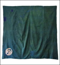 Early Green Cotton Furoshiki Cover With Small Kamon Crest