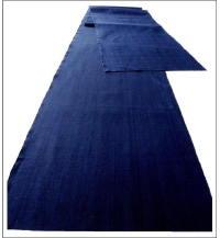 Solid Indigo Cotton Textile Panel