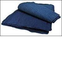 20 Solid Indigo Cotton Textile Squares