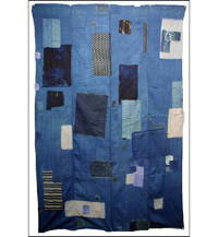 Sale Boro Patched Solid Indigo Base Cotton Futon Cover