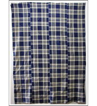 Sale Early Indigo Patched Check Cotton Futon Cover