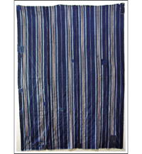 Sale Early Indigo Patched Stripe Cotton Futon Cover