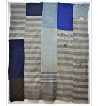 Sale Large Patched Mixed Fabrics Solids Stripe Zanshi Indigo