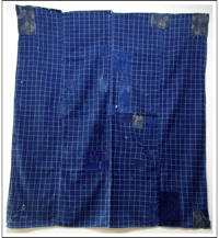 Sale DIY Repair Indigo Patched Cotton Furoshiki Wrapping Cloth