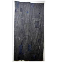 Sale DIY Repair Indigo Stripe Cotton Boro Futon Cover