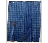 Sale DIY Repair Indigo Check  Stripe Cotton Boro Futon Cover