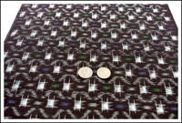 Vintage Kasuri Indigo Cotton Fabric New Old Stock