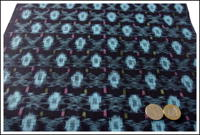 Kasuri Indigo Cotton Textile Panel New Old Stock