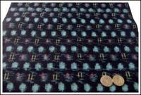 Kasuri Indigo Cotton Textile Panel New Old Stock
