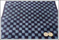 Premium Kasuri Indigo Cotton Textile Panel