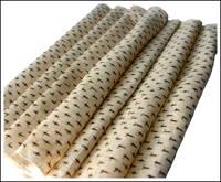 Finely Woven Kasuri Beige Hemp Textile Panel
