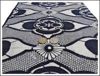 Katazome Reverse Indigo Textile