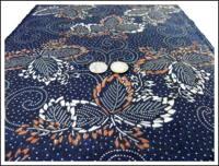 Katazome Indigo  Kakishibu Cotton Textile