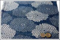 Katazome Indigo Cotton Textile Chrysanthemums