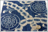 Early Katazome Indigo Cotton Textile ca 1880