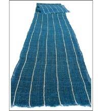 Kaya Mosquito Netting Striped Indigo Hemp