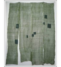 4 Panel Set Kaya Dark Olive Green Hemp Mosquito Netting