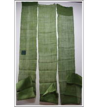 3 Long Panel Set Kaya Boro Olive Green Hemp Mosquito Netting