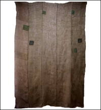 Large Kaya Boro Olive Green  Brown HempCotton Mosquito Netting