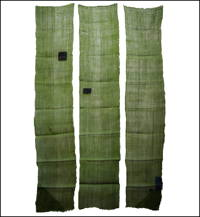 3 Panel Set Kaya Boro Olive Green Hemp Mosquito Netting