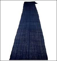 Long Kaya Dark Indigo Hemp  Cotton Mix Mosquito Netting