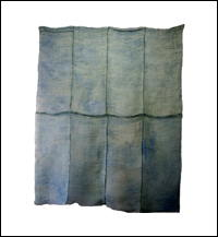 Large Kaya Pale BlueGreen Mixed Hemp  Cotton Mosquito Netting