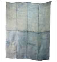 Large Kaya Pale BlueGreen Mixed Hemp  Cotton Boro Patched