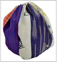 Komebukuro Mixed Silks  Cottons Medium Rice Bag