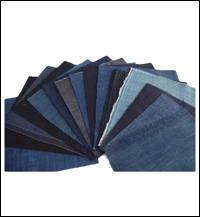 15 Solid Indigo Cotton Textile Squares