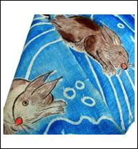 Boys Day Rabbits Noboribata hanging bannerflag c1900