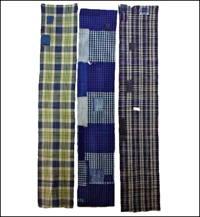 Set Of 3 Random Boro Textile Cotton Panels